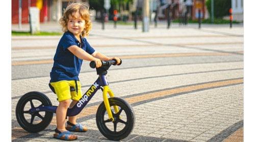 Gyermek kerékpár a tanulás kezdeti fázisához
